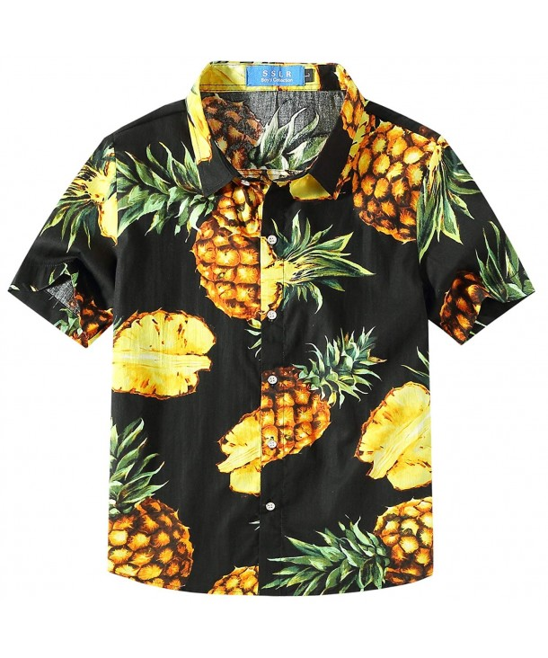 SSLR Pineapple Button Sleeve Hawaiian