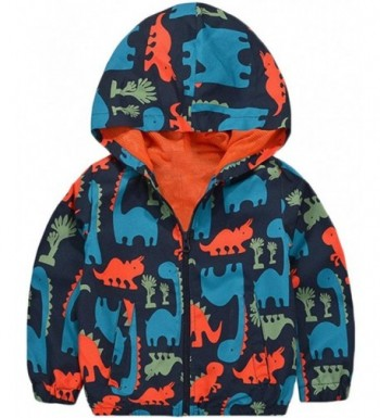 KISBINI Cartoon Dinosaur Windproof Raincoat