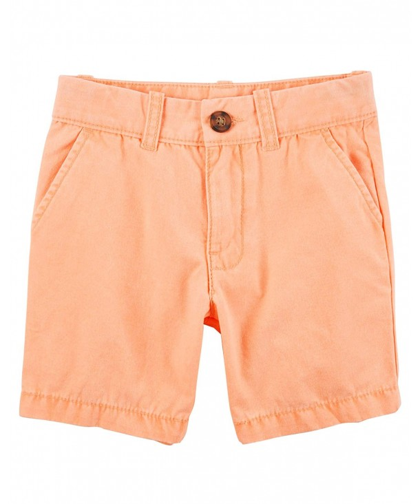 Carters Front Canvas Shorts Orange