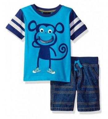 Boys Rock Denim Short Monkey
