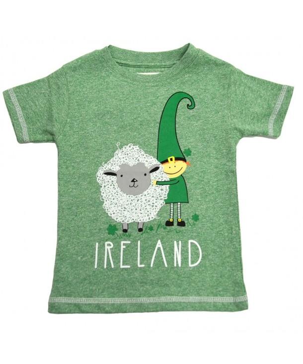 Green Leprechaun Sheep Ireland T Shirt