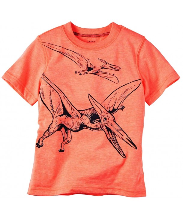 Carters Orange Pterodactyl Short Sleeve