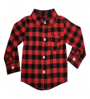 Baby Flannel Shirt Toddler Buffalo
