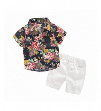 Hawaiian Outfits Toddler Button Down Clothes