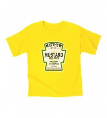 Kerusso Mustard Kids T Shirt Large Christian