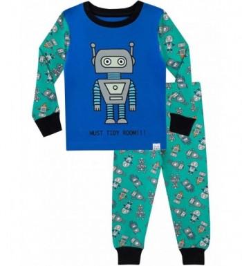 Harry Bear Pajamas Retro Robots