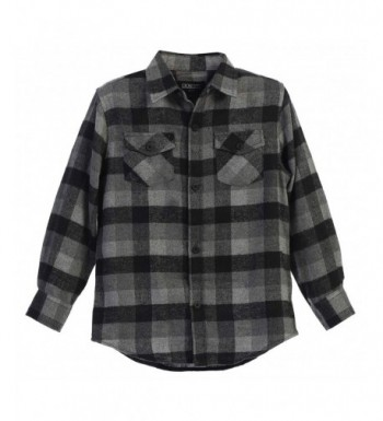 Gioberti Sleeve Plaid Checked Flannel