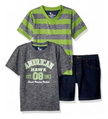 American Hawk Graphic V Neck T Shirt