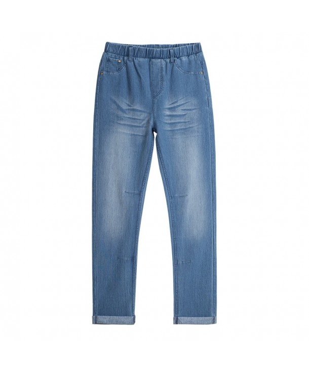 UNACOO Casual Ripped Jeans Elastic