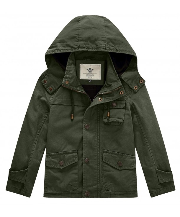 WenVen Girls Hooded Active Jacket