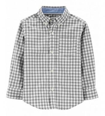 Carters Plaid Button Front Shirt