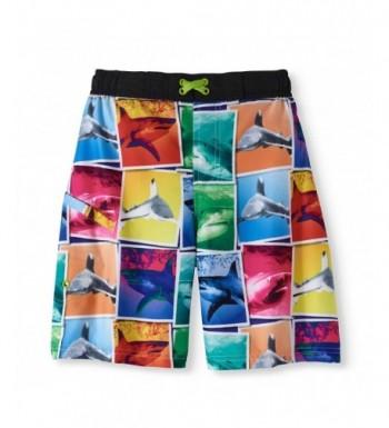Shark Blocks Black Trunk Shorts